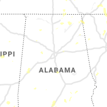 Regional Hail Map for Birmingham, AL - Wednesday, August 11, 2021