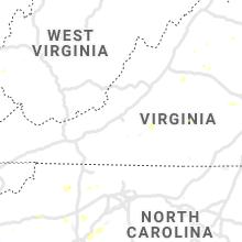 Regional Hail Map for Roanoke, VA - Wednesday, August 11, 2021