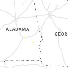 Regional Hail Map for Auburn, AL - Thursday, August 12, 2021