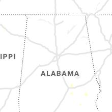 Regional Hail Map for Birmingham, AL - Thursday, August 12, 2021