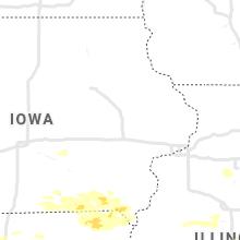 Regional Hail Map for Cedar Rapids, IA - Thursday, August 12, 2021