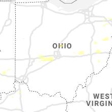 Regional Hail Map for Columbus, OH - Thursday, August 12, 2021