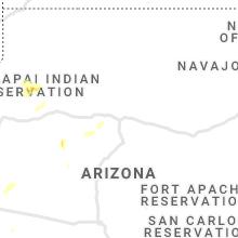 Regional Hail Map for Flagstaff, AZ - Thursday, August 12, 2021