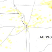 Regional Hail Map for Kansas City, MO - Thursday, August 12, 2021