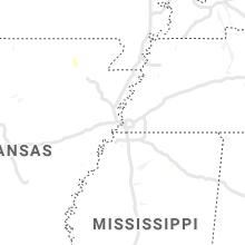 Regional Hail Map for Memphis, TN - Thursday, August 12, 2021