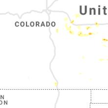 Regional Hail Map for Pueblo, CO - Thursday, August 12, 2021