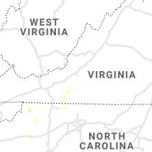 Regional Hail Map for Roanoke, VA - Thursday, August 12, 2021