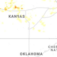 Regional Hail Map for Wichita, KS - Thursday, August 12, 2021