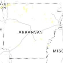 Regional Hail Map for Little Rock, AR - Friday, August 13, 2021