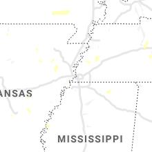 Regional Hail Map for Memphis, TN - Friday, August 13, 2021