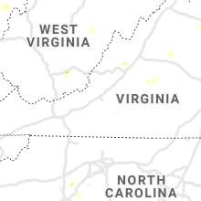 Regional Hail Map for Roanoke, VA - Friday, August 13, 2021