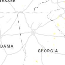 Regional Hail Map for Atlanta, GA - Saturday, August 14, 2021