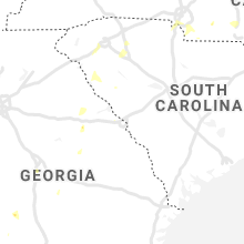 Regional Hail Map for Augusta, GA - Saturday, August 14, 2021