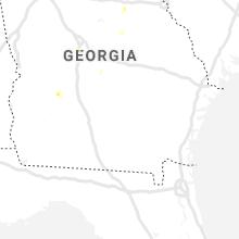 Regional Hail Map for Douglas, GA - Saturday, August 14, 2021