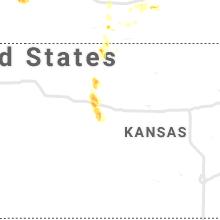 Regional Hail Map for Hays, KS - Saturday, August 14, 2021