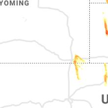 Regional Hail Map for Laramie, WY - Saturday, August 14, 2021