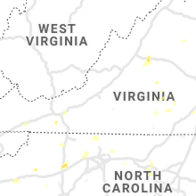 Regional Hail Map for Roanoke, VA - Saturday, August 14, 2021