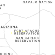 Regional Hail Map for Show Low, AZ - Saturday, August 14, 2021