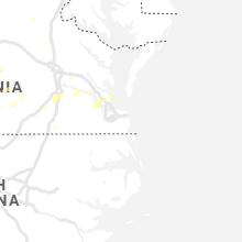Regional Hail Map for Virginia Beach, VA - Saturday, August 14, 2021