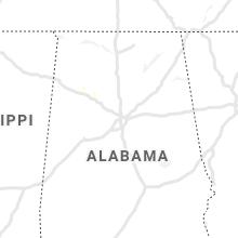 Regional Hail Map for Birmingham, AL - Sunday, August 15, 2021