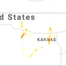 Regional Hail Map for Hays, KS - Sunday, August 15, 2021