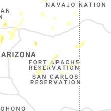 Regional Hail Map for Show Low, AZ - Sunday, August 15, 2021