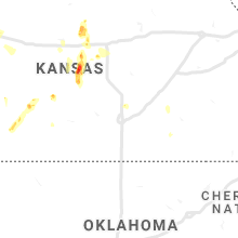 Regional Hail Map for Wichita, KS - Sunday, August 15, 2021