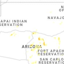 Regional Hail Map for Flagstaff, AZ - Monday, August 16, 2021