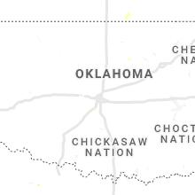 Regional Hail Map for Oklahoma City, OK - Monday, August 16, 2021