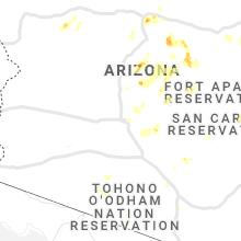 Regional Hail Map for Phoenix, AZ - Monday, August 16, 2021