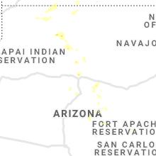 Regional Hail Map for Flagstaff, AZ - Tuesday, August 17, 2021