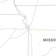 Regional Hail Map for Kansas City, MO - Tuesday, August 17, 2021