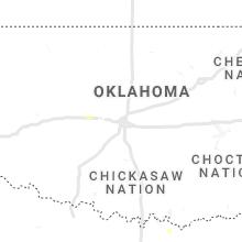 Regional Hail Map for Oklahoma City, OK - Tuesday, August 17, 2021