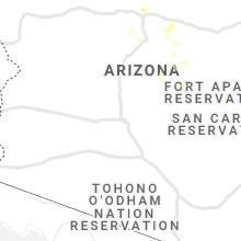 Regional Hail Map for Phoenix, AZ - Tuesday, August 17, 2021