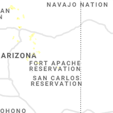 Regional Hail Map for Show Low, AZ - Tuesday, August 17, 2021