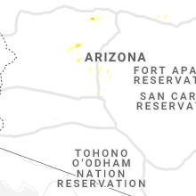 Regional Hail Map for Phoenix, AZ - Wednesday, August 18, 2021
