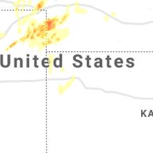 Regional Hail Map for Colby, KS - Thursday, August 19, 2021