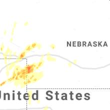 Regional Hail Map for North Platte, NE - Thursday, August 19, 2021