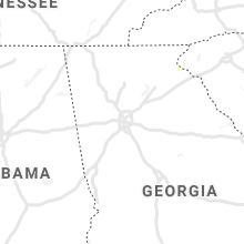 Regional Hail Map for Atlanta, GA - Friday, August 20, 2021