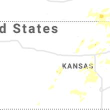 Regional Hail Map for Hays, KS - Friday, August 20, 2021