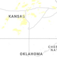 Regional Hail Map for Wichita, KS - Friday, August 20, 2021