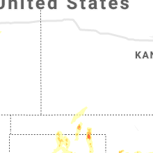 Regional Hail Map for Garden City, KS - Saturday, August 21, 2021