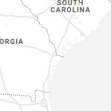 Regional Hail Map for Savannah, GA - Saturday, August 21, 2021