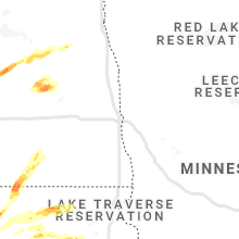 Regional Hail Map for Fargo, ND - Sunday, August 22, 2021