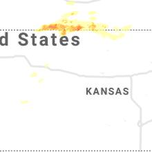 Regional Hail Map for Hays, KS - Sunday, August 22, 2021