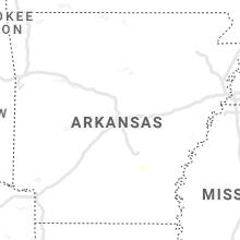 Regional Hail Map for Little Rock, AR - Sunday, August 22, 2021
