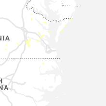 Regional Hail Map for Virginia Beach, VA - Sunday, August 22, 2021