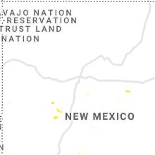 Regional Hail Map for Albuquerque, NM - Monday, August 23, 2021