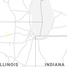 Regional Hail Map for Chicago, IL - Monday, August 23, 2021