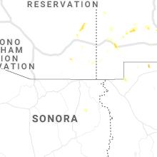 Regional Hail Map for Douglas, AZ - Monday, August 23, 2021